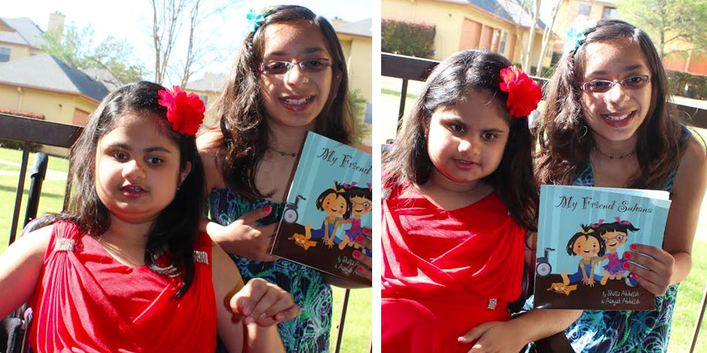 Suhana and Aanyah with the book
